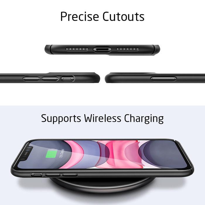 ESR Telefoonhoesje - Apple iPhone 11 - Liquid Shield – Zwart