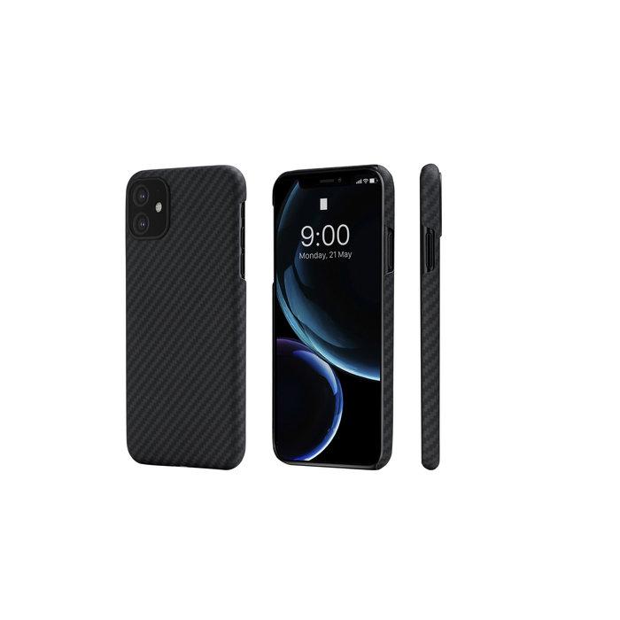 PITAKA MagEz Case - iPhone 11 - Twill-patroon (zwart)