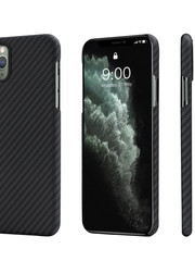 PITAKA MagEz Case - iPhone 11 Pro - Twill-patroon (zwart)