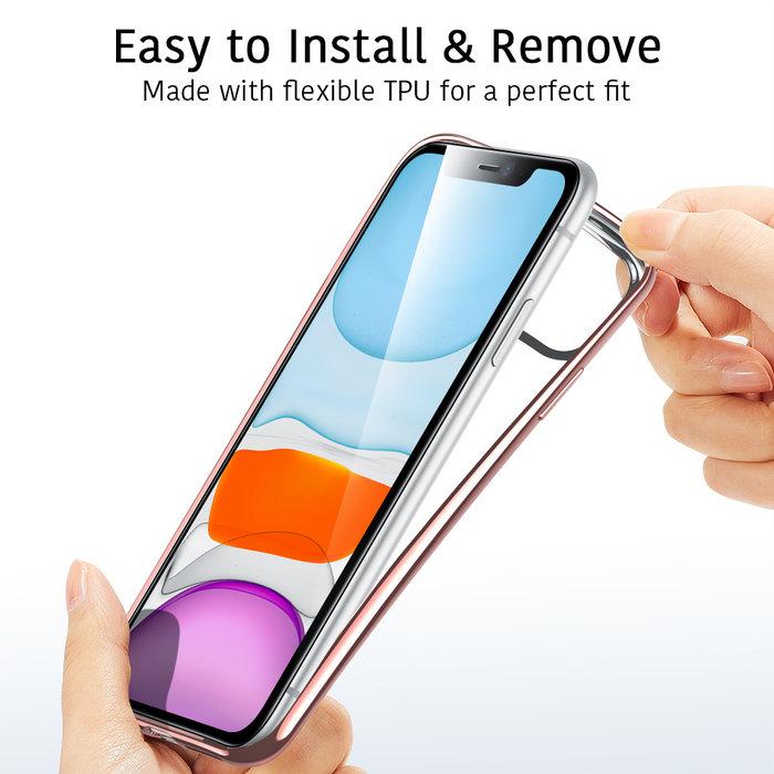 ESR telefoonhoesje - Apple iPhone 11 Pro Max - Hues Twinkle - Rose Gold / Roze