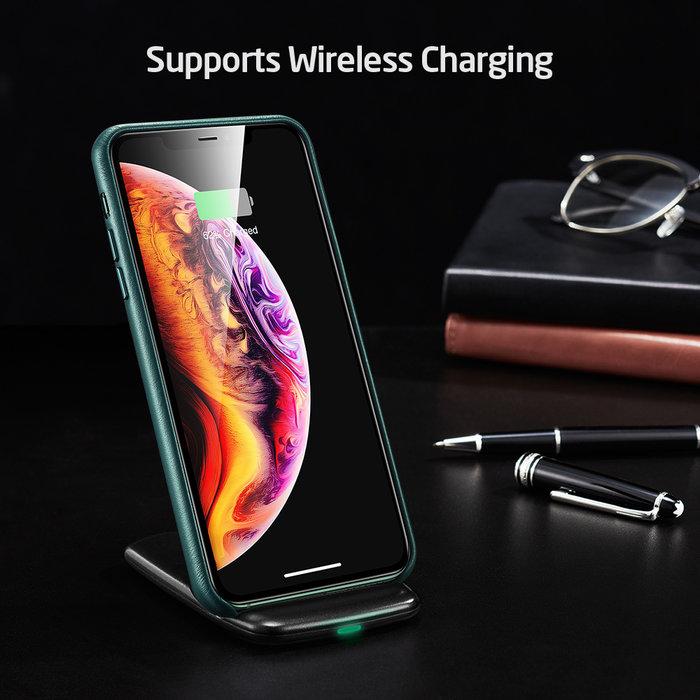 ESR  telefoonhoesje - Apple iPhone 11 Pro Max - Metro Leather - Groen