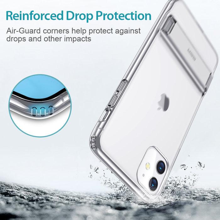 ESR Telefoonhoesje - Apple iPhone 11 Pro Max - Air Shield Boost - Transparant & met standaard