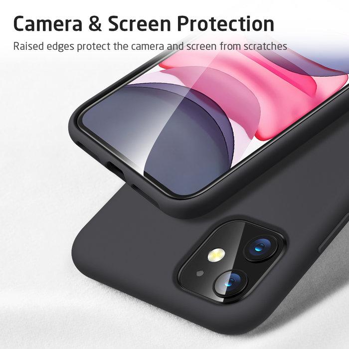ESR Telefoonhoesje - Apple iPhone 11 Pro - Yippee silicone - Zwart
