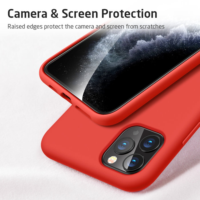 ESR Telefoonhoesje - Apple iPhone 11 Pro - Yippee silicone - Rood