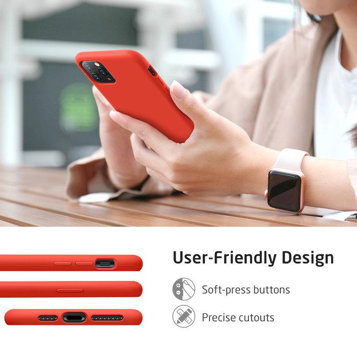ESR Telefoonhoesje - Apple iPhone 11 Pro Max- Yippee silicone - Rood