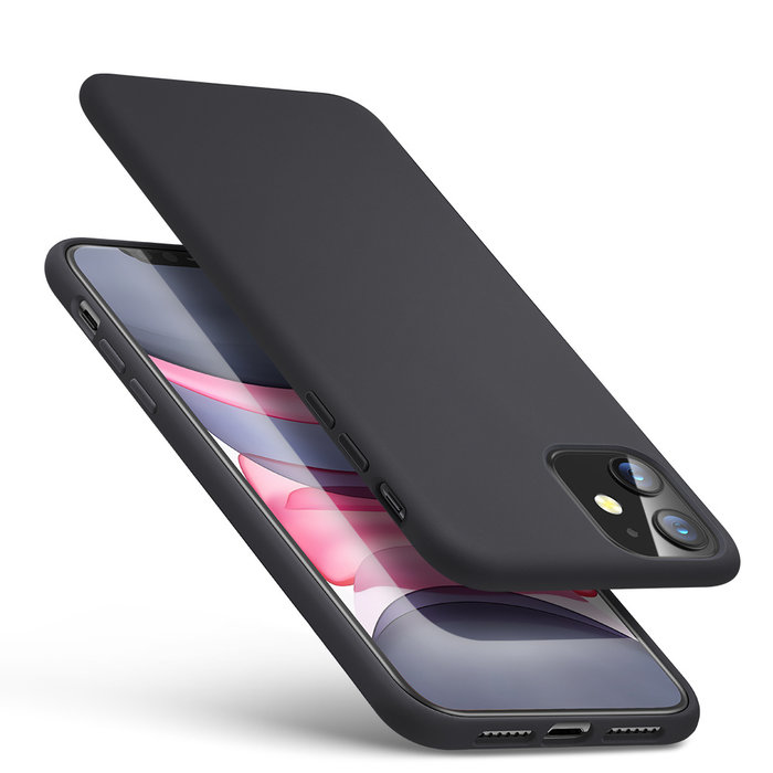 ESR Telefoonhoesje - Apple iPhone 11 Pro Max - Yippee silicone - Zwart