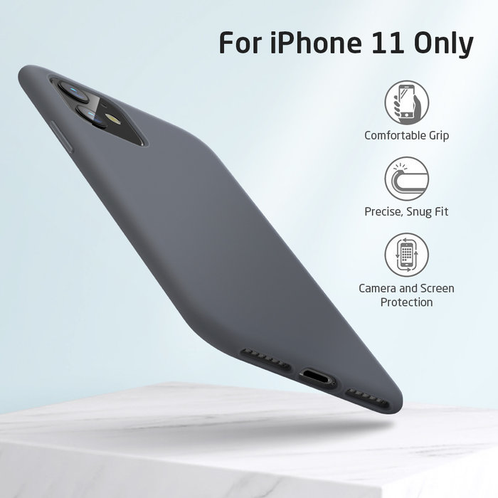 ESR telefoonhoesje - Apple iPhone 11 - Yippee silicone - Grijs