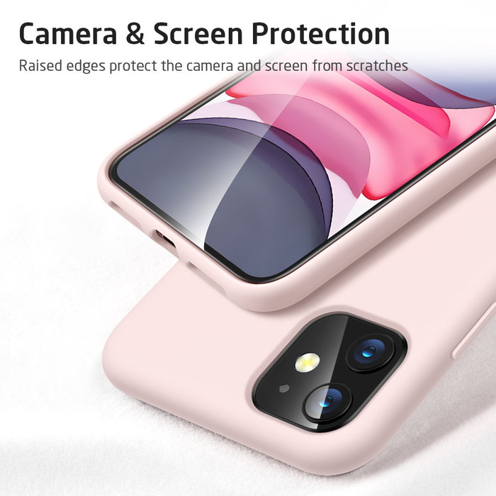 ESR telefoonhoesje - Apple iPhone 11 - Yippee silicone - Roze