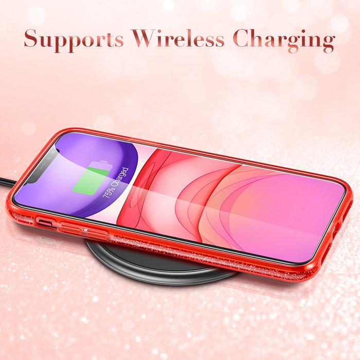 ESR Telefoonhoesje - Apple iPhone 11 - Makeup Glitter - Rood