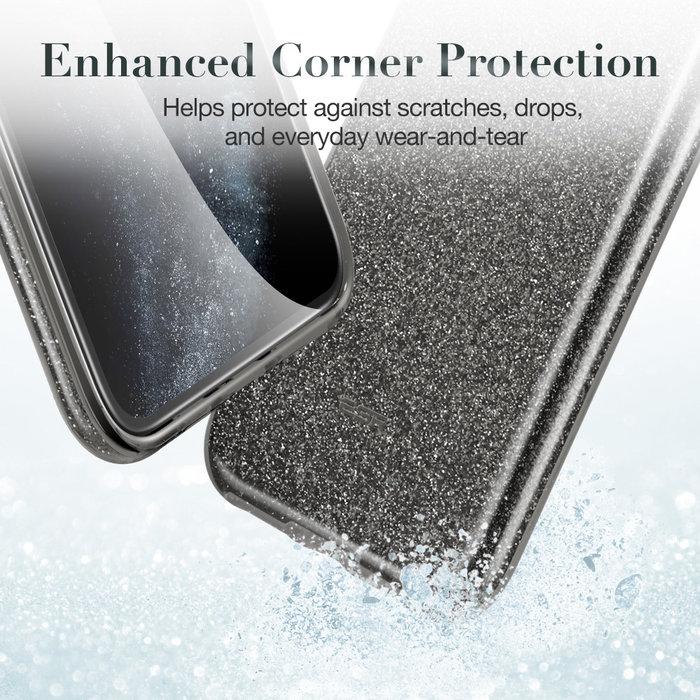 ESR telefoonhoesje - Apple iPhone 11 Pro Max - Makeup Glitter – Zwart