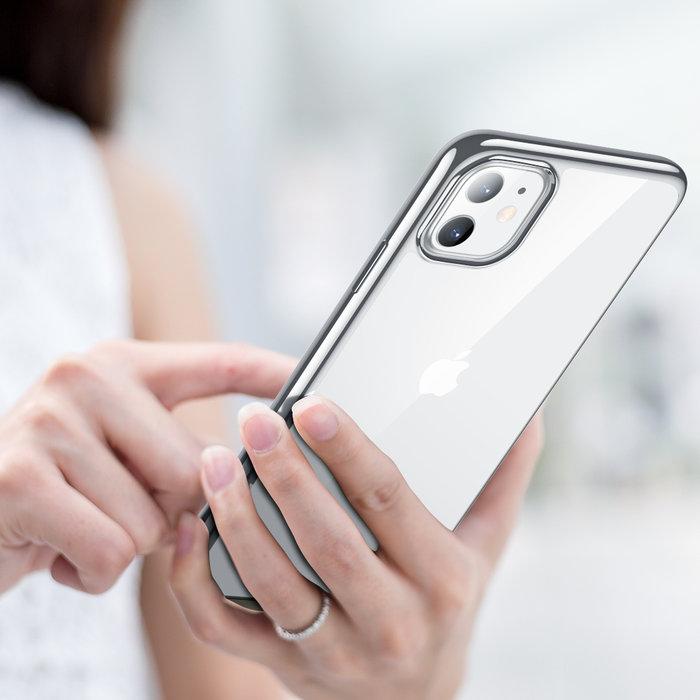 ESR Telefoonhoesje - Apple iPhone 11 - Hues Twinkle - Zilver Kleurig