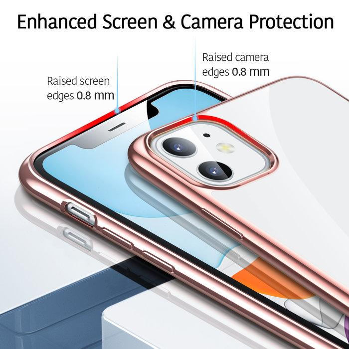 ESR Telefoonhoesje - Apple iPhone 11 - Hues Twinkle - Rose Gold / Roze