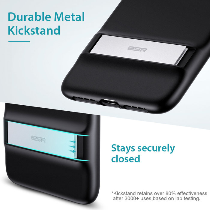 ESR Telefoonhoesje - Apple iPhone 11 - Air Shield Boost - Zwart & met standaard