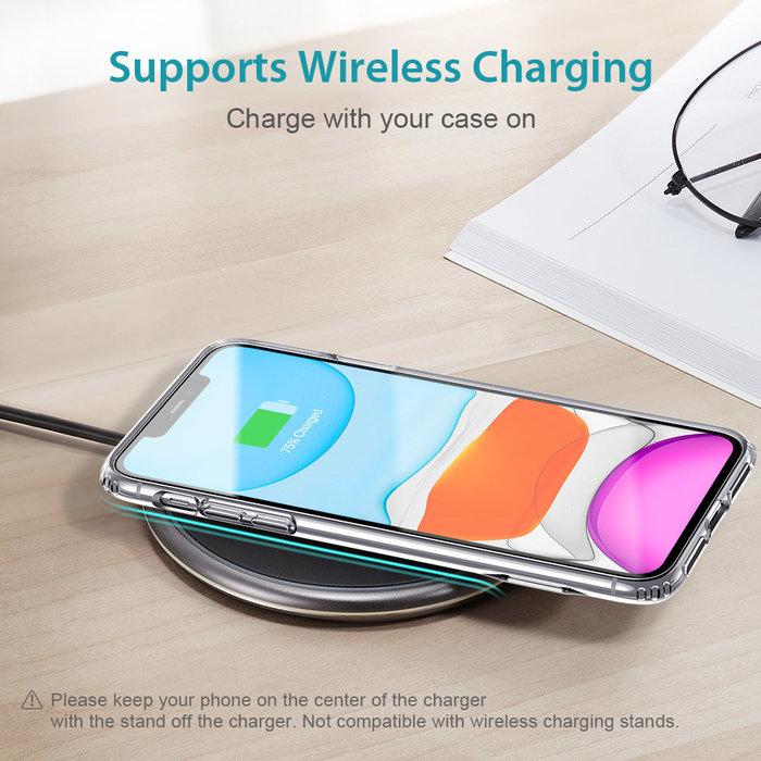 ESR Telefoonhoesje - Apple iPhone 11 - Air Shield Boost - Transparant & met standaard