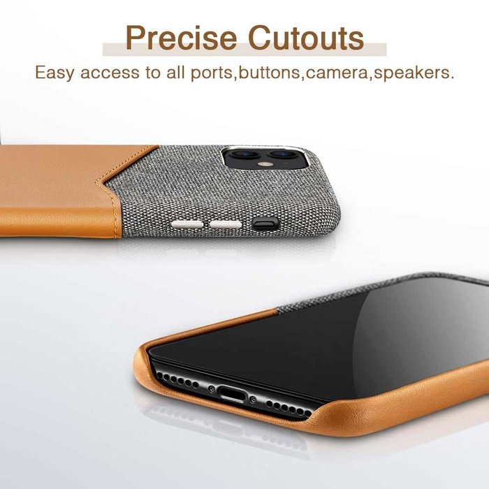 ESR telefoonhoesje - Apple iPhone 11 - Metro Portemonnee – Bruin