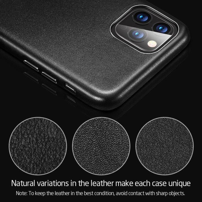 ESR ESR - telefoonhoesje - Apple iPhone 11 Pro - Metro Leather - Zwart