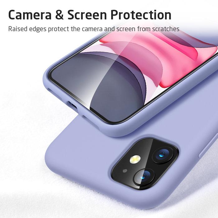 ESR telefoonhoesje - Apple iPhone 11 - Yippee silicone - Paars