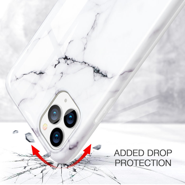 ESR Telefoonhoesje - Apple iPhone 11 Pro Max - Vogue marmer – Wit