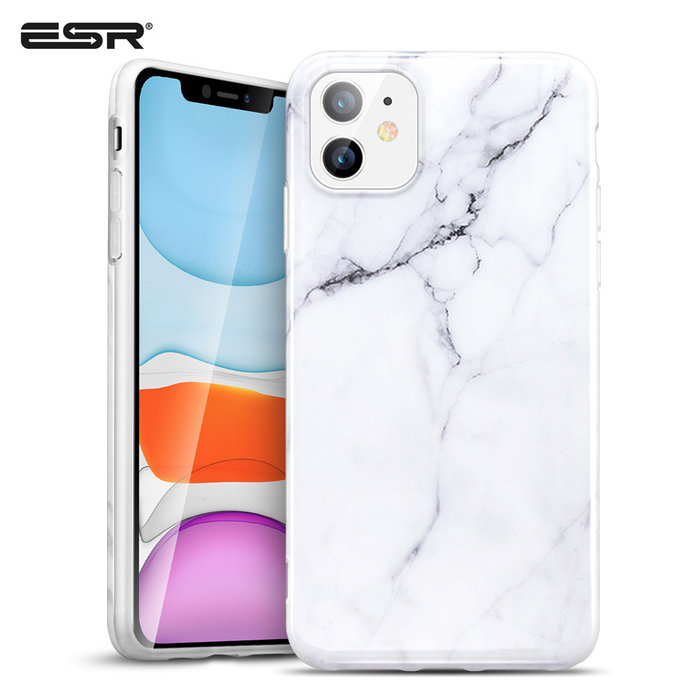 ESR Telefoonhoesje - Apple iPhone 11 - Vogue marmer – Wit
