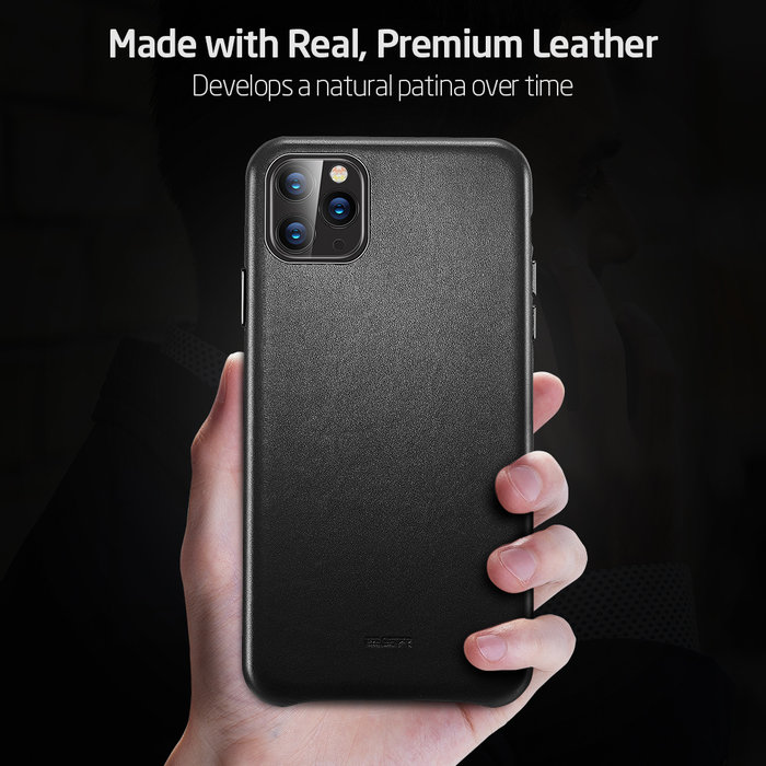 ESR  telefoonhoesje - Apple iPhone 11 Pro Max - Metro Leather - Zwart