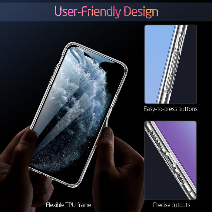 ESR Telefoonhoesje - Apple iPhone 11 Pro Max - Ice Shield - Blauw & Paars