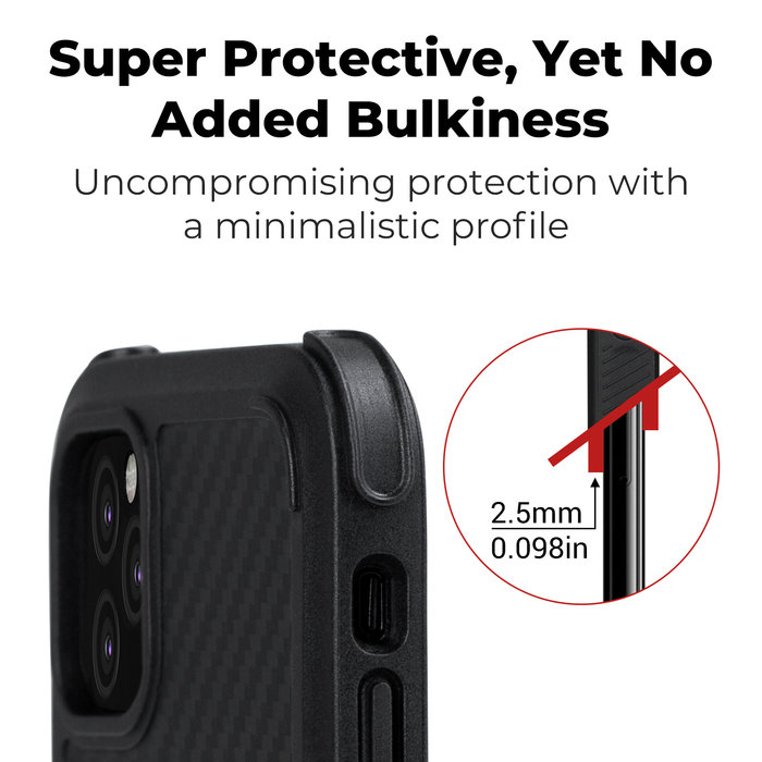 PITAKA MagEz Case Pro - iPhone 11 Pro Max - Twill-patroon (zwart)