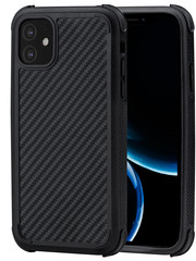 PITAKA MagEz Case Pro - iPhone 11 - Twill-patroon (zwart)