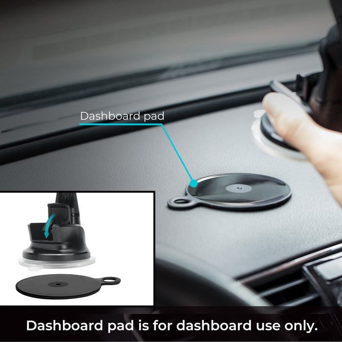 PITAKA Draadloze Q1 Autolader - MagEZ Mount Qi – Zuignap / Dashboard