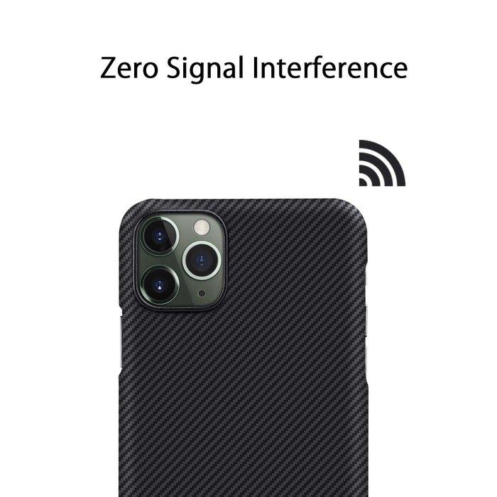 PITAKA Air Case - iPhone 11 Pro Max - Twill-patroon (zwart)