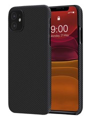 PITAKA Air Case - iPhone 11 - Twill-patroon (zwart)