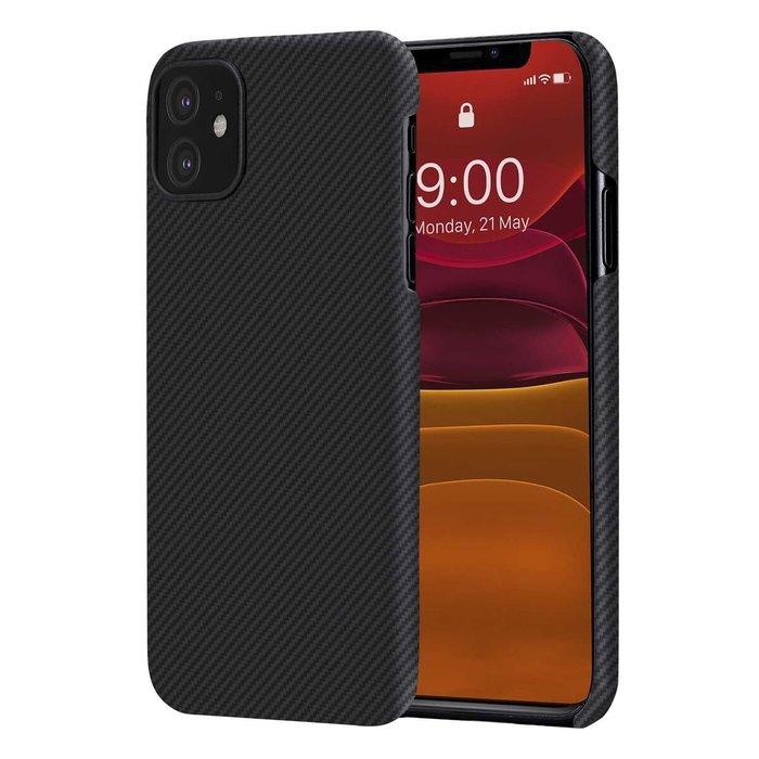 PITAKA Air Case - iPhone 11 - Twill-patroon (zwart)