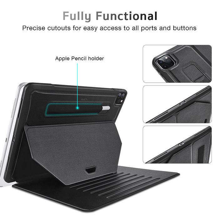 ESR Tablethoes - iPad Pro 12.9 2020 - Sentry Stand - Zwart