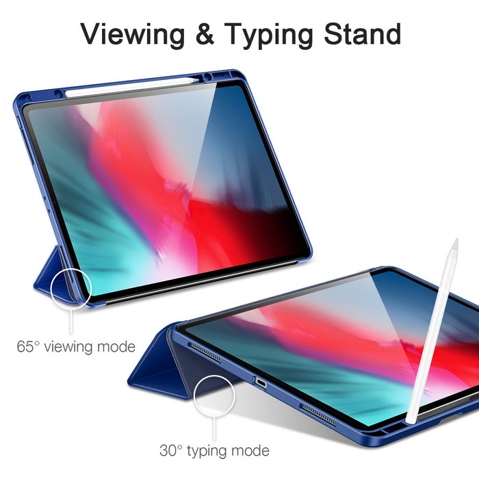 ESR Tablethoes - iPad Pro 12.9 2020 - Rebound Pencil - Navy Blue