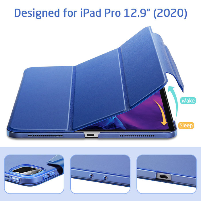 ESR Tablethoes - iPad Pro 12.9 2020 - Yippee Trifold - Navy Blue