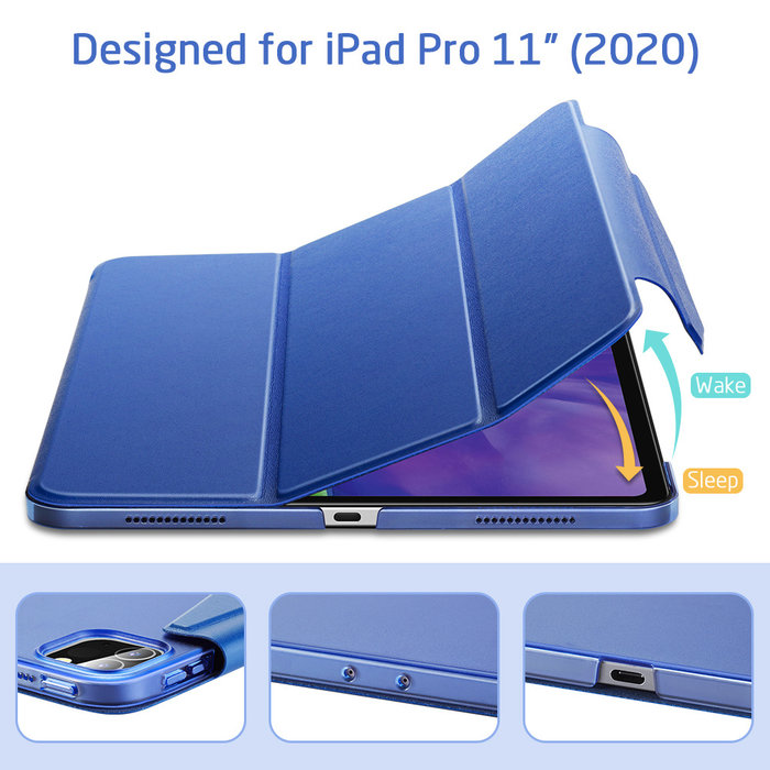 ESR Tablethoes - iPad Pro 11 2020 - Yippee Trifold - Navy Blue