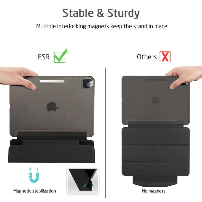 ESR Tablethoes - iPad Pro 11 2020 - Yippee Trifold - Zwart