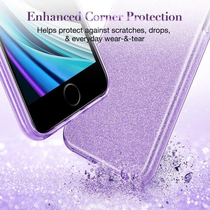 ESR Telefoonhoesje - iPhone SE 2020/8/7 - Makeup Glitter - Paars