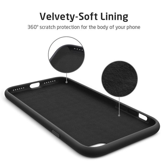 ESR Telefoonhoesje - iPhone SE 2020/8/7 - Yippee siliconen - Zwart