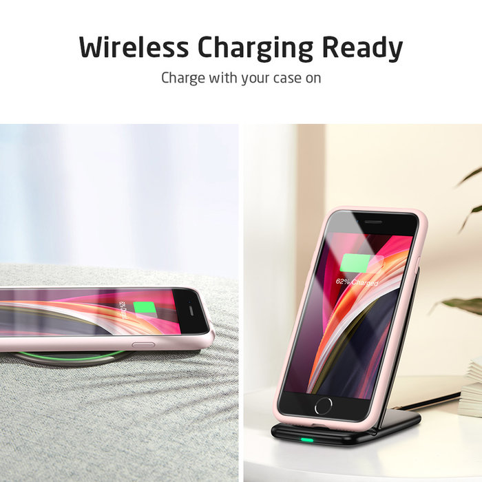 ESR Telefoonhoesje - iPhone SE 2020/8/7 - Yippee siliconen - Roze