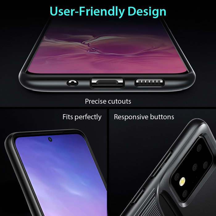 ESR telefoonhoesje - Samsung Galaxy S20 Ultra - Armor Portemonnee - Zwart