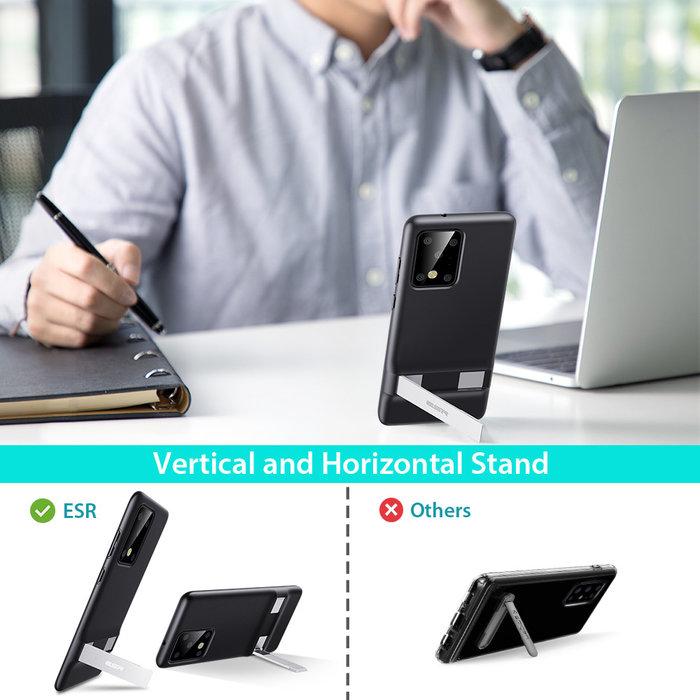 ESR telefoonhoesje - Samsung S20 Ultra - Air Shield Boost - Zwart & met standaard