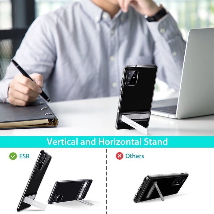ESR telefoonhoesje - Samsung S20 Plus - Air Shield Boost - Transparant & met standaard
