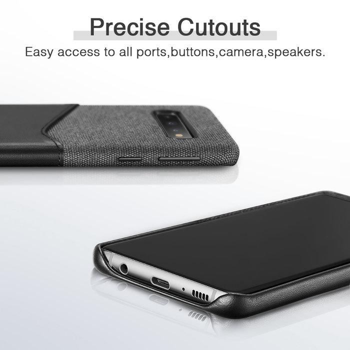 ESR telefoonhoesje - Samsung Galaxy S10 PLUS - Metro Portemonnee - Zwart