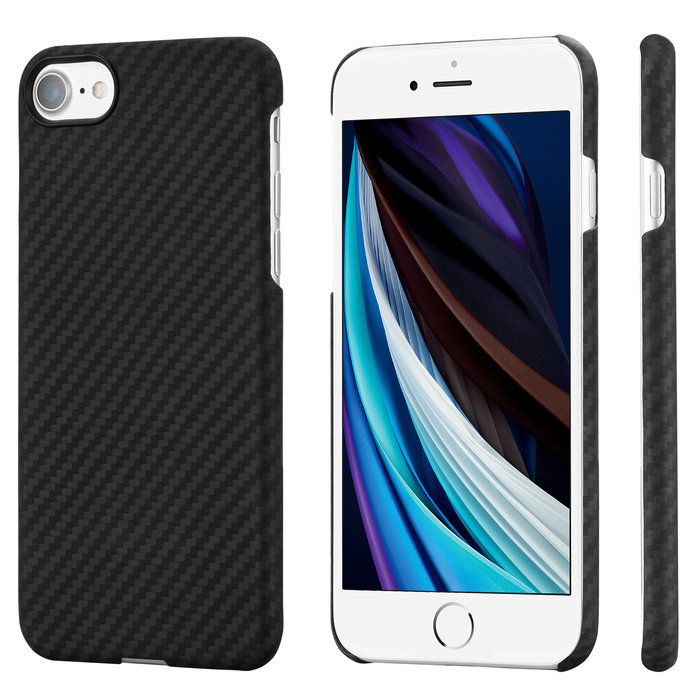 PITAKA MagEz Case - Apple iPhone SE 2020 - Twill-patroon - Zwart