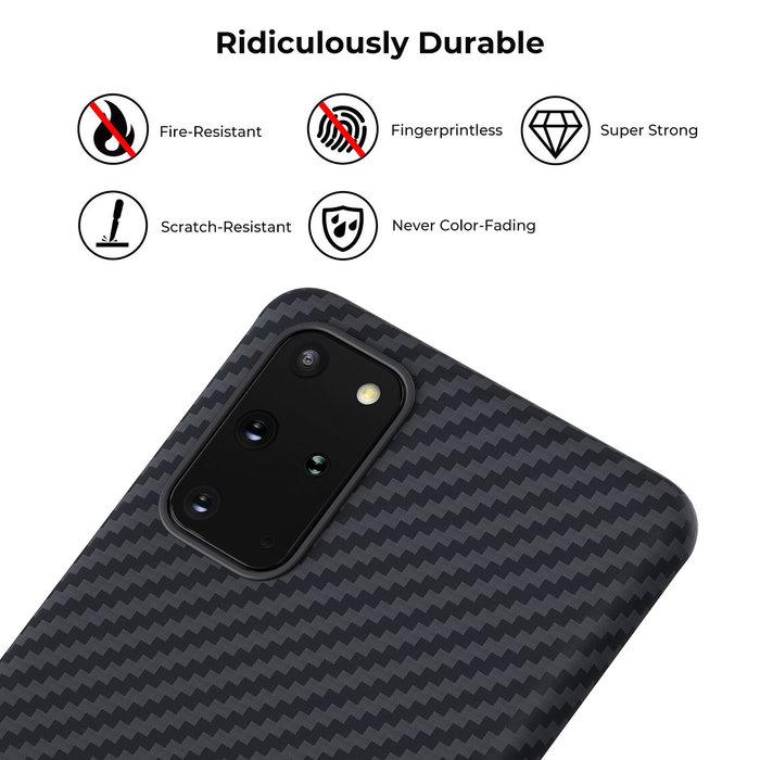 PITAKA MagEz Case - Samsung Galaxy S20 Plus - Twill-patroon - Zwart