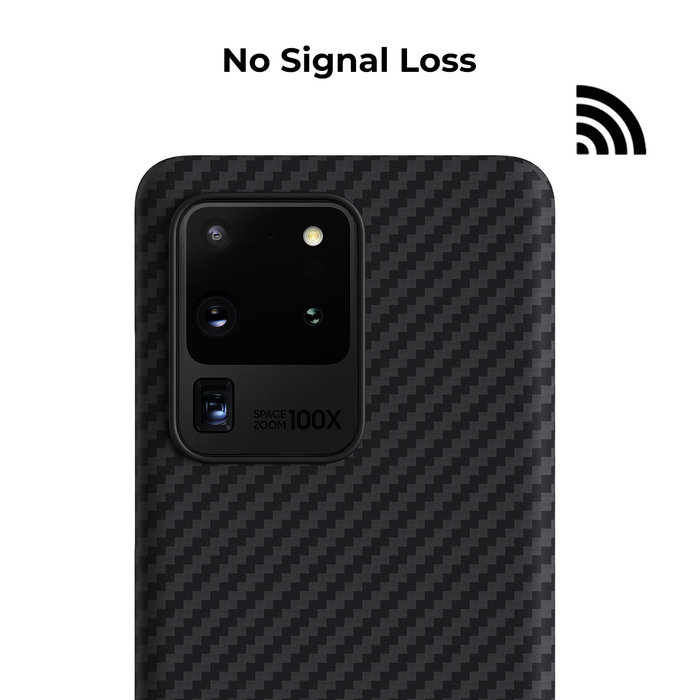 PITAKA MagEz Case - Samsung Galaxy S20 Ultra - Twill-patroon - Zwart