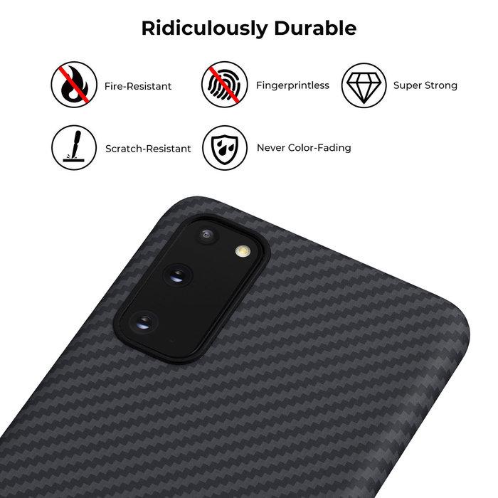 PITAKA MagEz Case - Samsung Galaxy S20 - Twill-patroon - Zwart