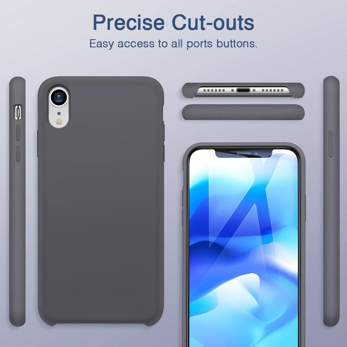 ESR Telefoonhoesje - Apple iPhone XR - Yippee silicone - Zwart
