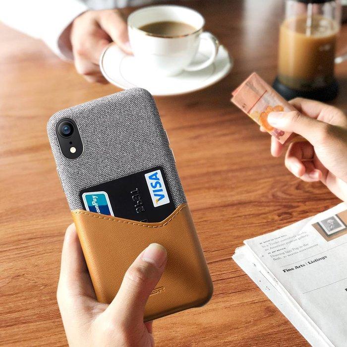 ESR Telefoonhoesje - Apple iPhone XR - Metro Portemonee - Bruin