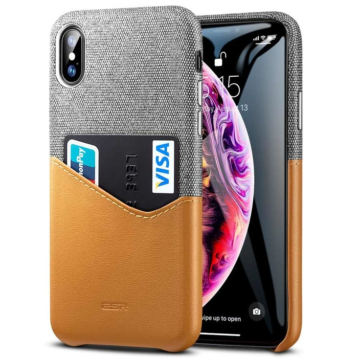ESR Telefoonhoesje - Apple iPhone XS Max - Metro Portemonee - Bruin